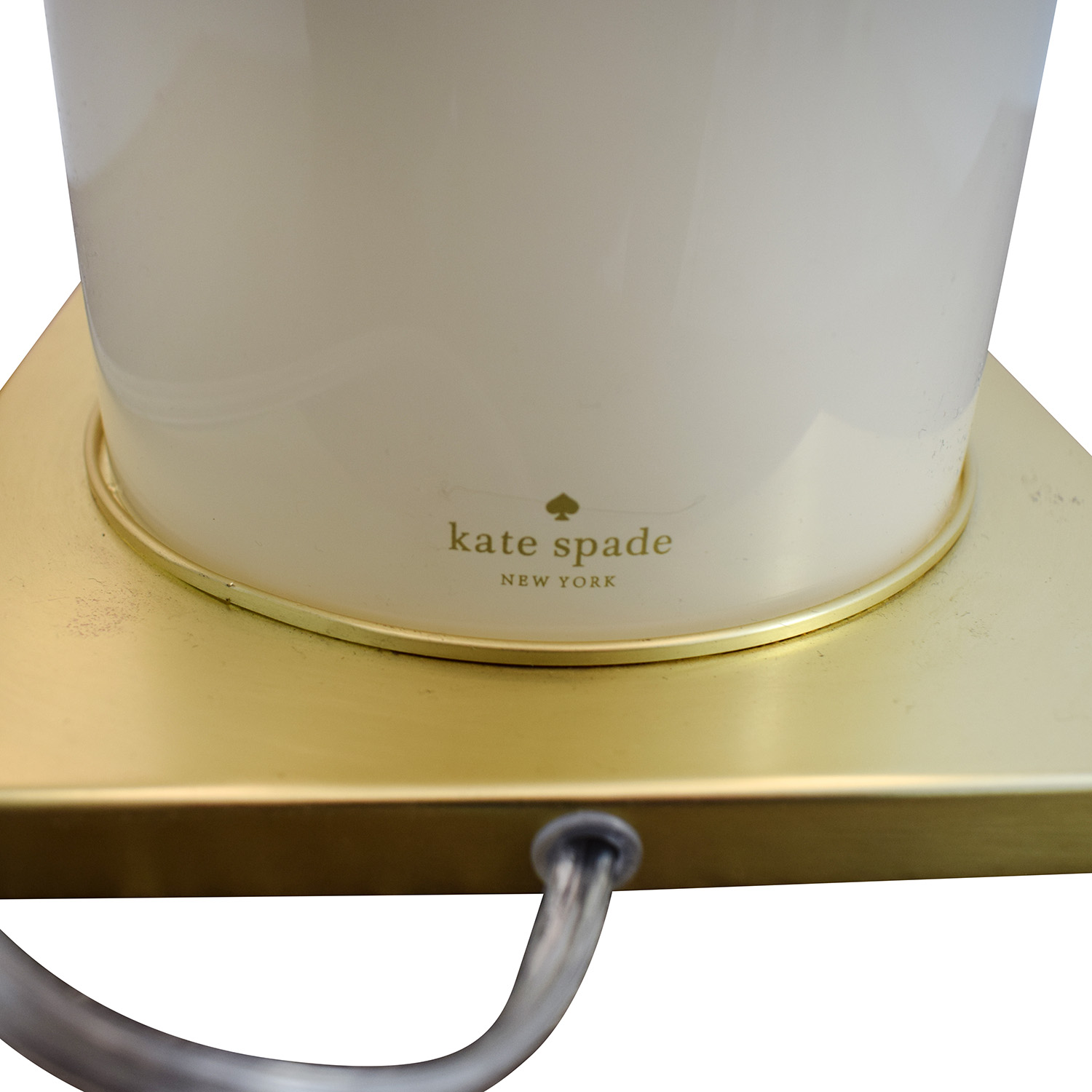 Kate Spade Black Gold and Creme Table Lamp / Lamps