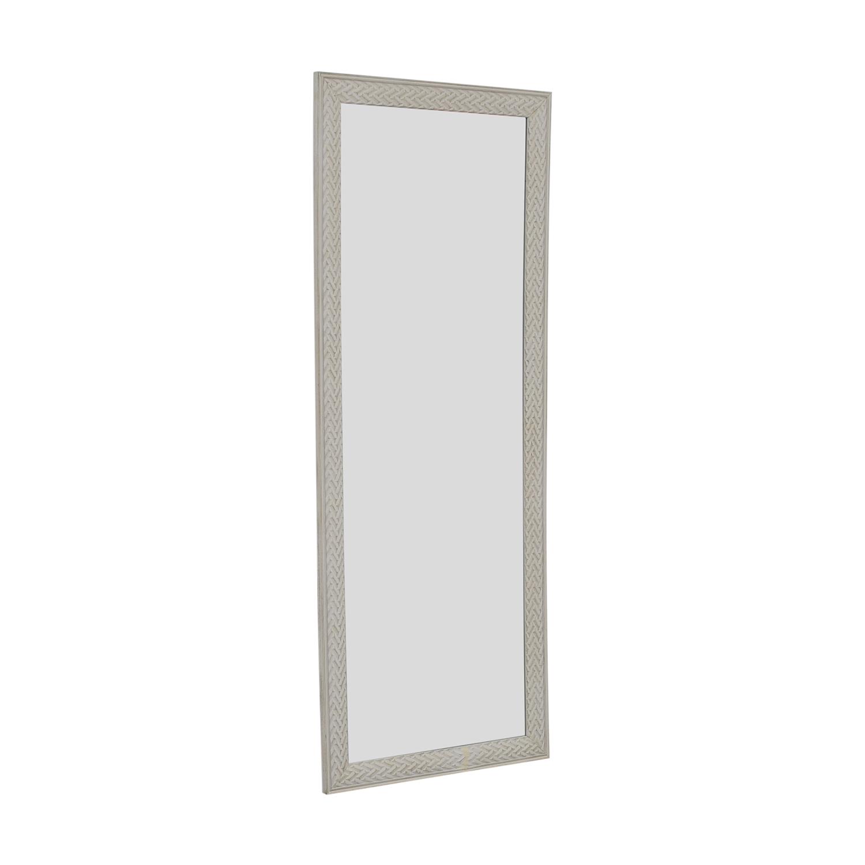 buy HomeGoods White Framed Floor Mirror HomeGoods Mirrors