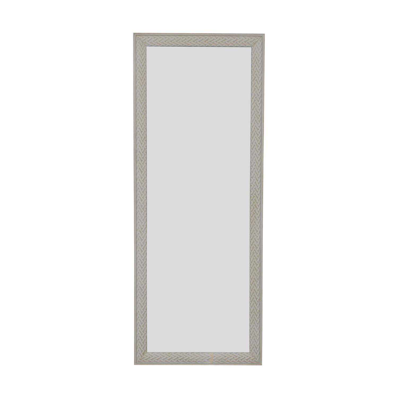 HomeGoods HomeGoods White Framed Floor Mirror for sale