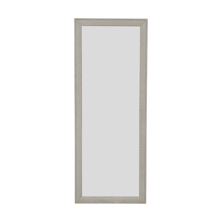HomeGoods HomeGoods White Framed Floor Mirror