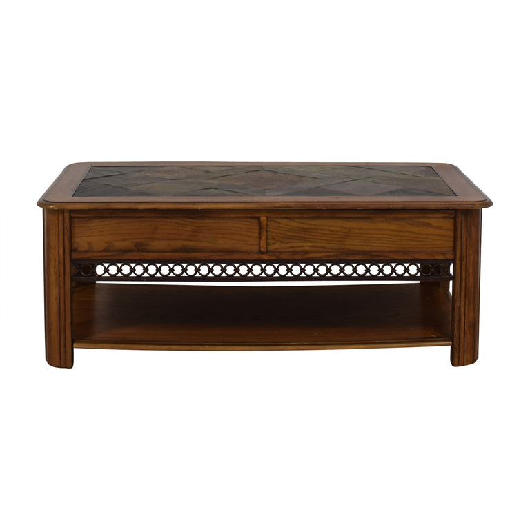 Raymour & Flanigan Raymour & Flanigan Lift Top Wood Coffee Table for sale