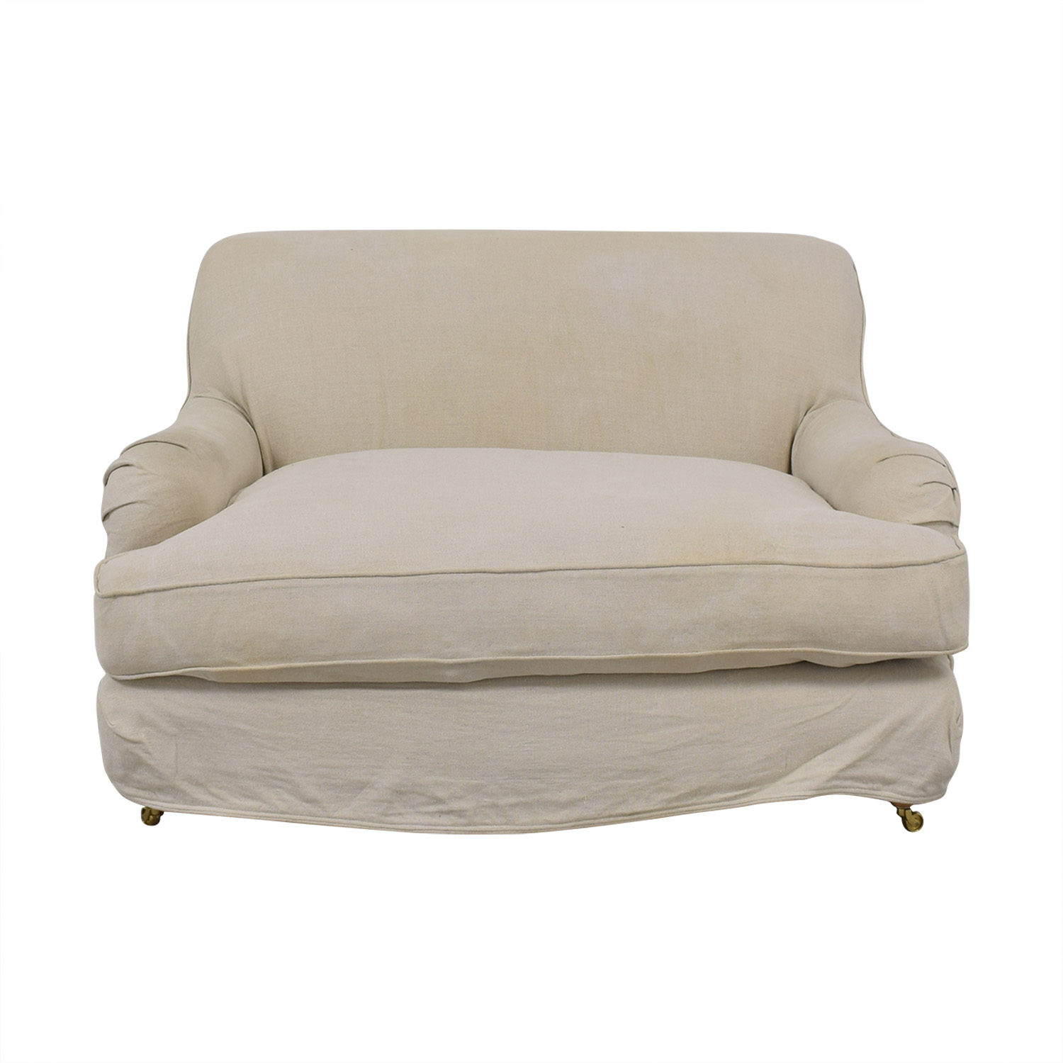 Rachel Ashwell Shabby Chic Rachel Ashwell Shabby Chic Chair and Half for sale