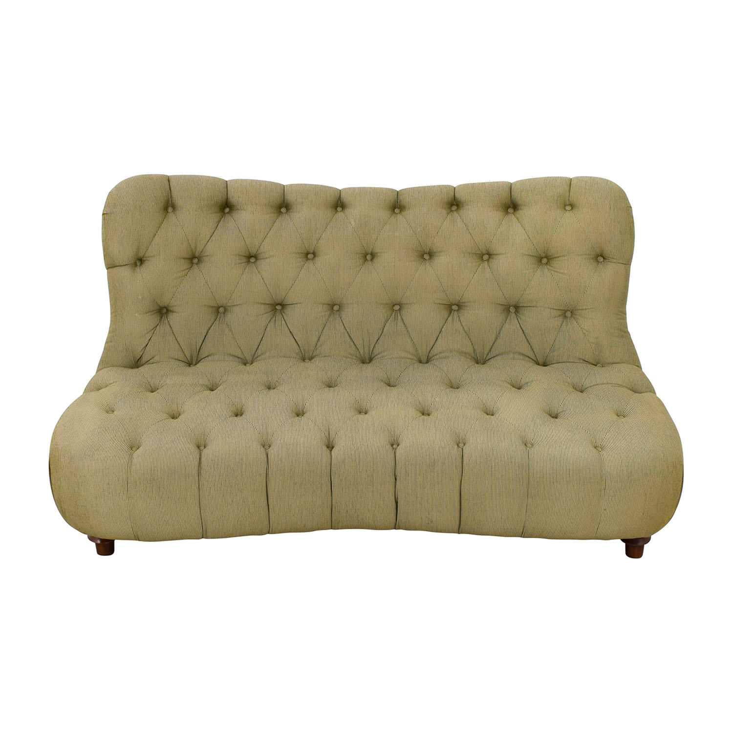 Green Tufted Loveseat nyc
