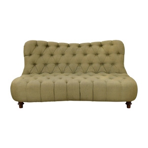Green Tufted Loveseat used