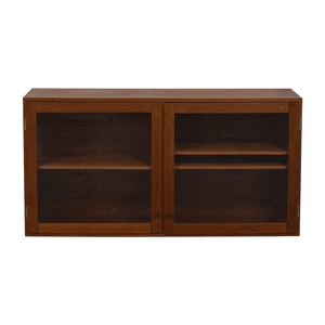 buy Vintage Wood and Glass TV Console