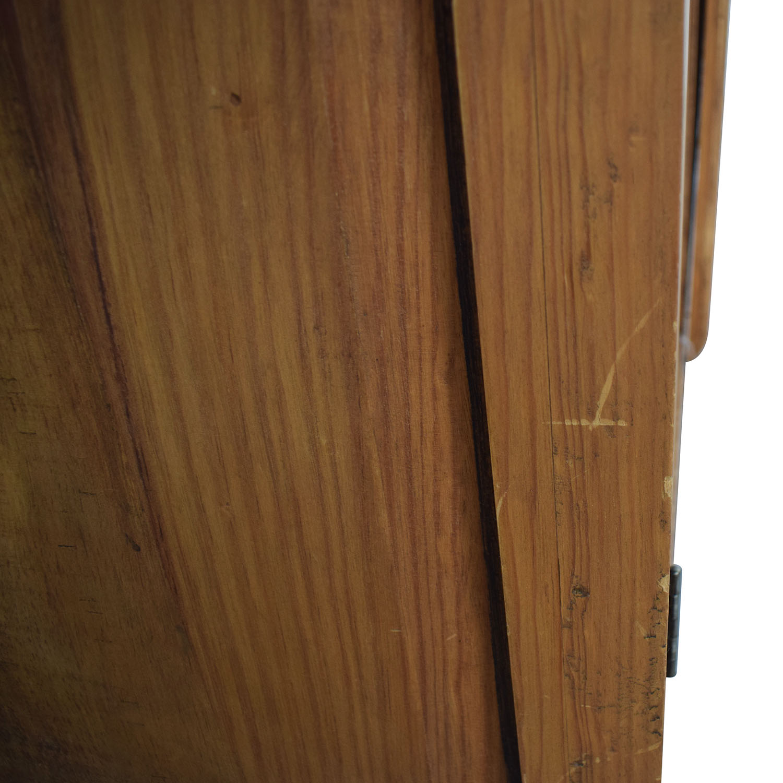 Natural Wood Wardrobe Armoire / Storage