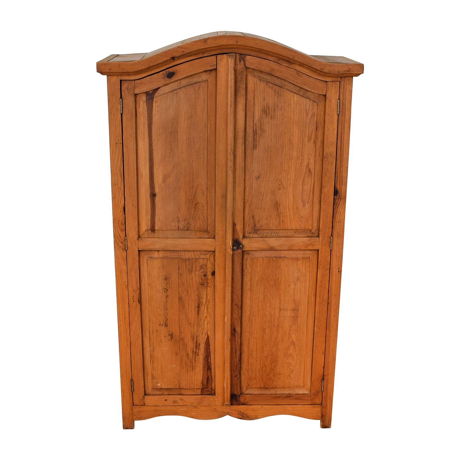 Natural Wood Wardrobe Armoire brown