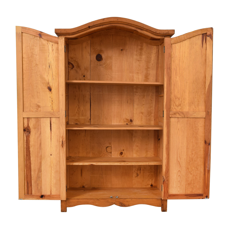 Natural Wood Wardrobe Armoire Storage