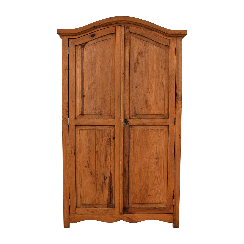 Natural Wood Wardrobe Armoire Wardrobes & Armoires