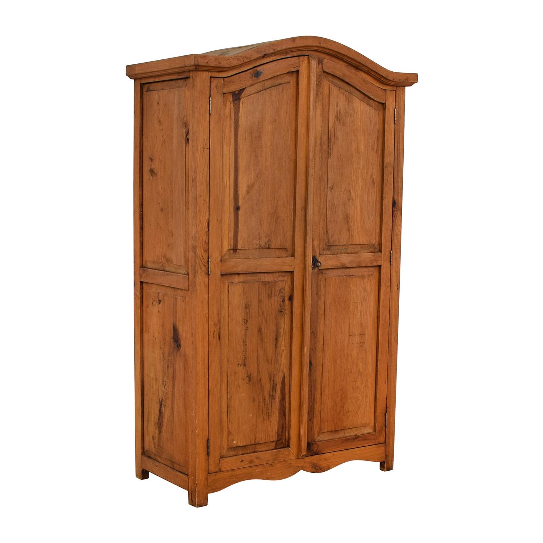 buy Natural Wood Wardrobe Armoire