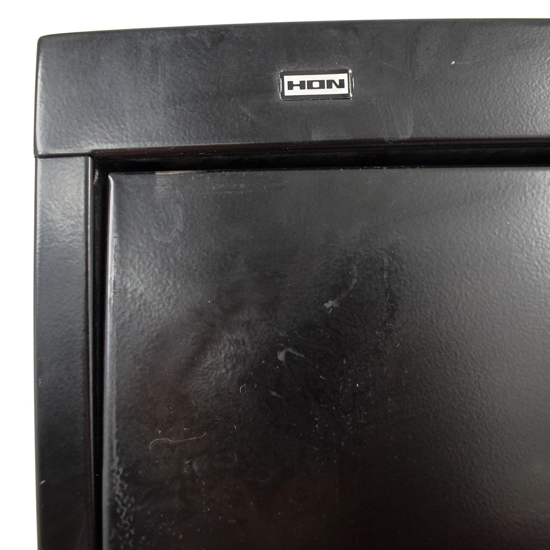 shop HON Black Five Drawer File Cabinet Hon Filing & Bins