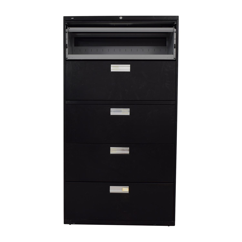 shop HON HON Black Five Drawer File Cabinet online