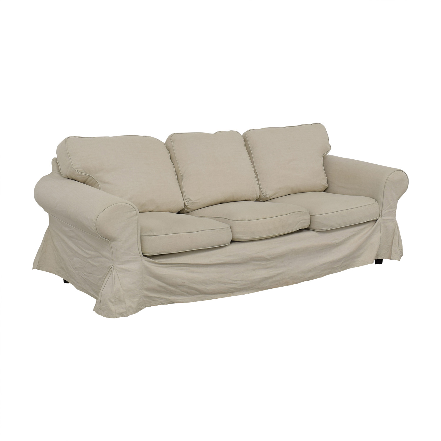 shop IKEA IKEA Ektorp Lofallet Beige Three-Cushion Sofa online