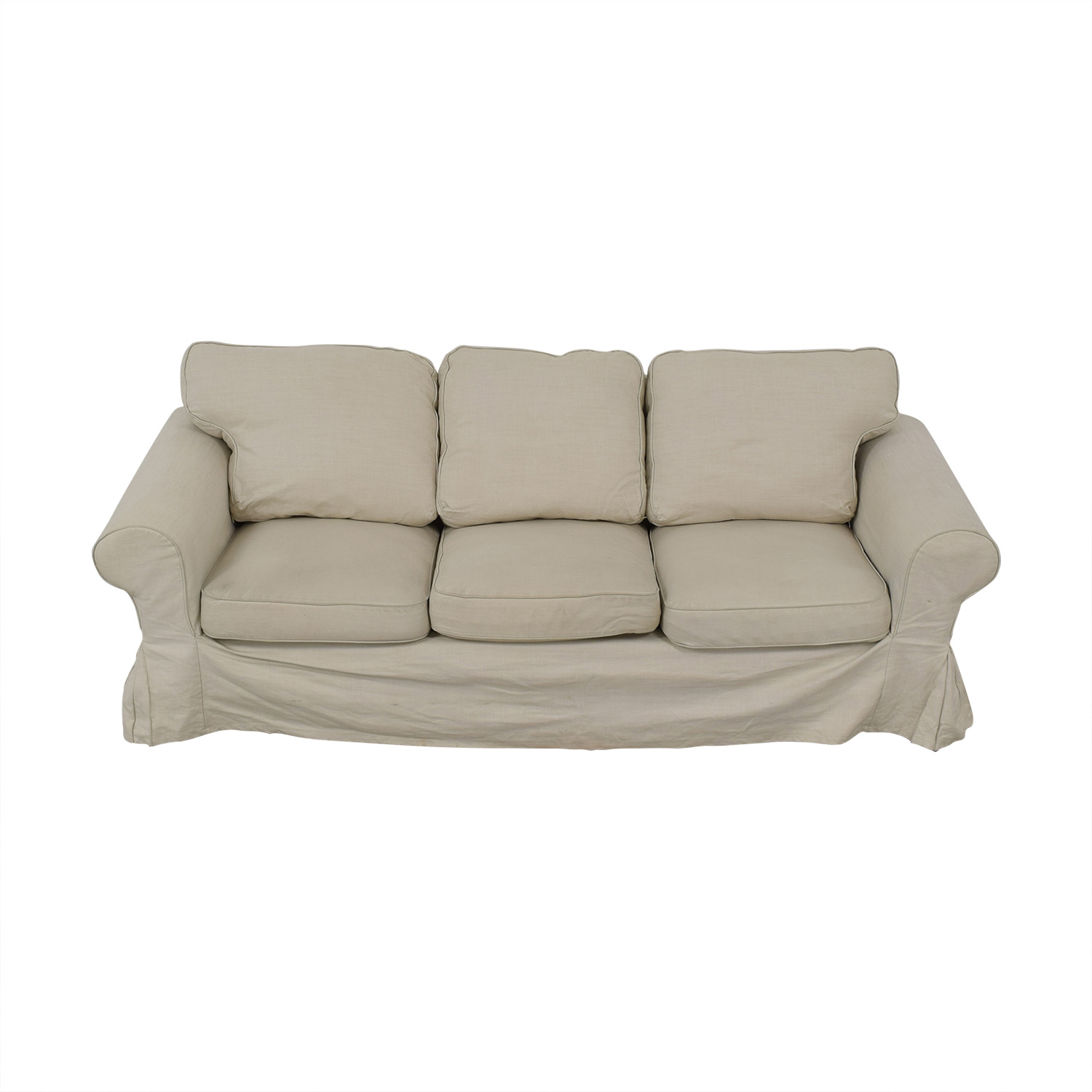 IKEA IKEA Ektorp Lofallet Beige Three-Cushion Sofa price