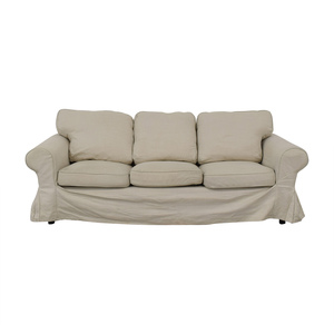 IKEA Ektorp Lofallet Beige Three-Cushion Sofa IKEA