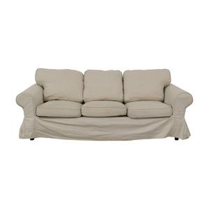 IKEA Ektorp Lofallet Beige Three-Cushion Sofa IKEA