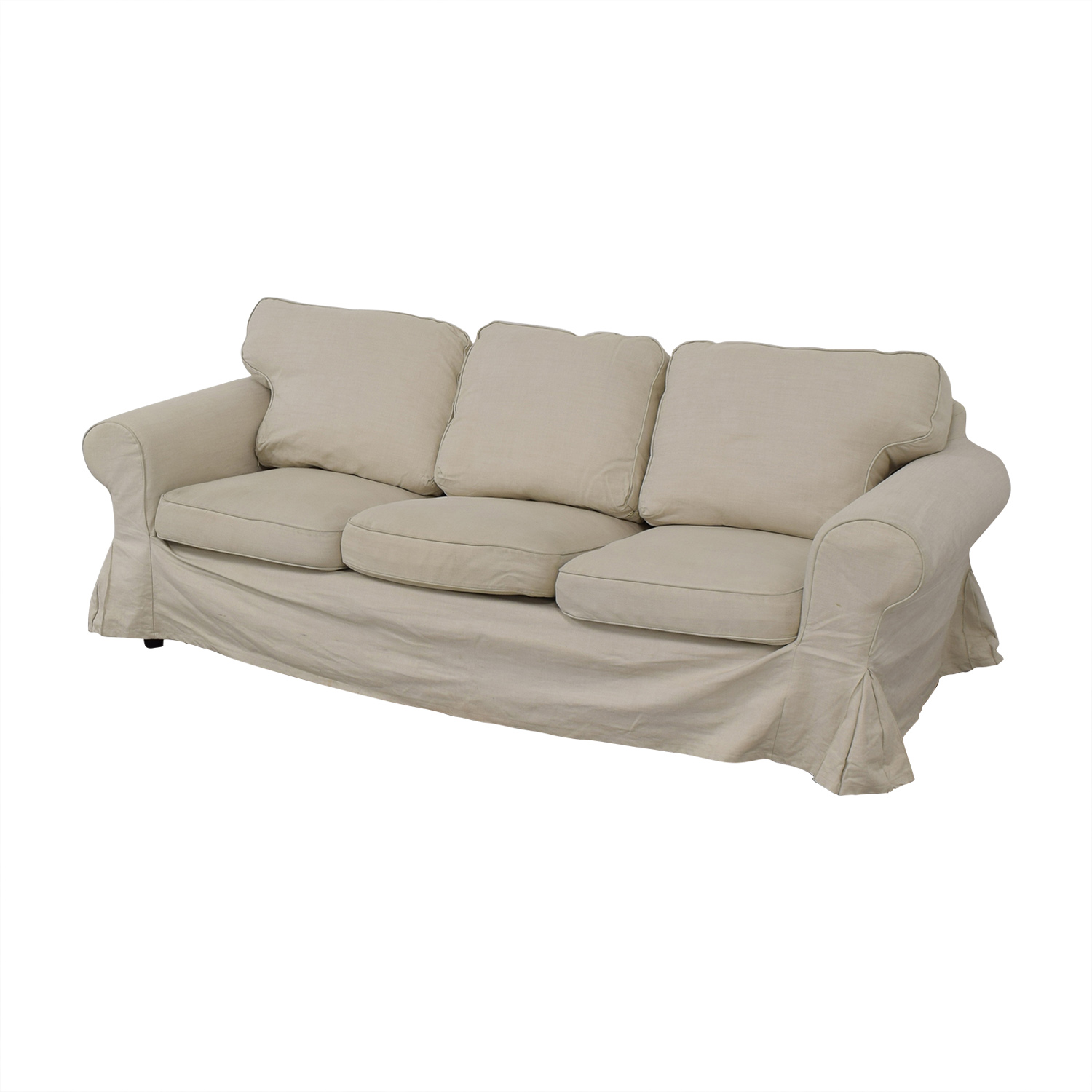 IKEA IKEA Ektorp Lofallet Beige Three-Cushion Sofa dimensions