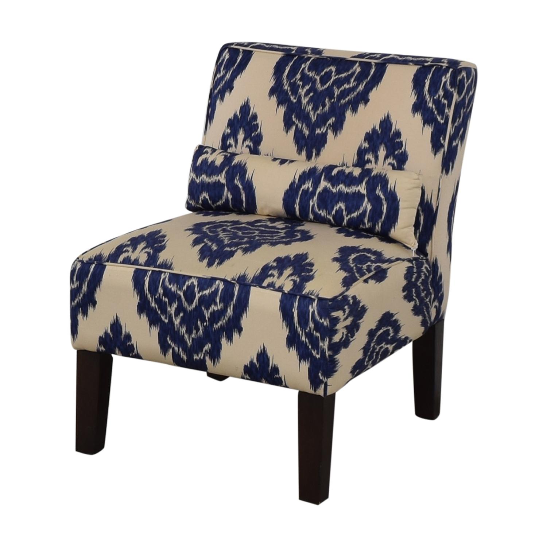 Skyline Furniture Diamond Blue Armless Accent Chair Used