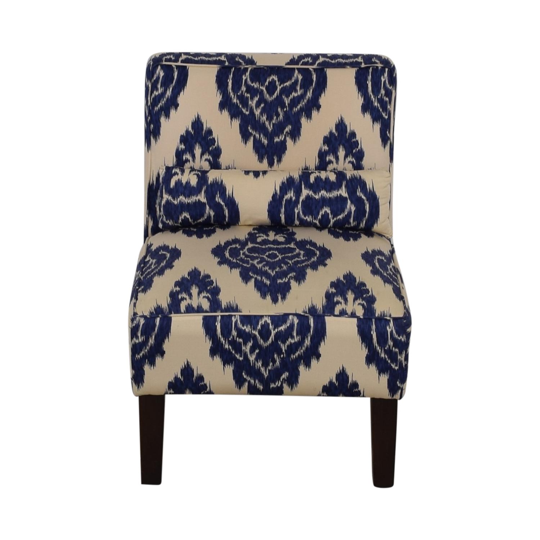 Skyline Furniture Diamond Blue Armless Accent Chair Nyc