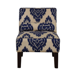 Skyline Furniture Diamond Blue Armless Accent Chair / Chairs