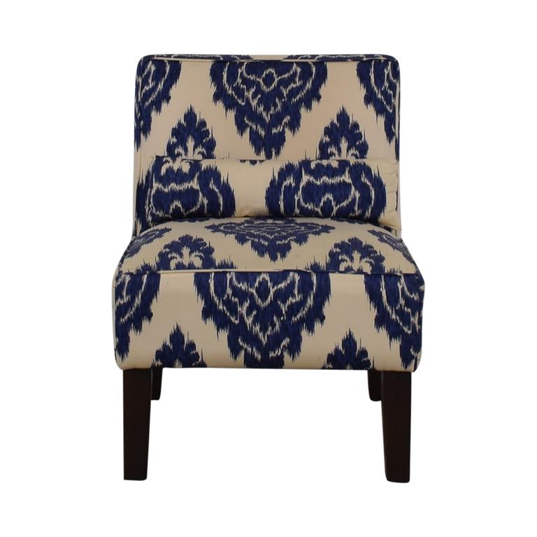 Skyline Furniture Skyline Furniture Diamond Blue Armless Accent Chair nyc