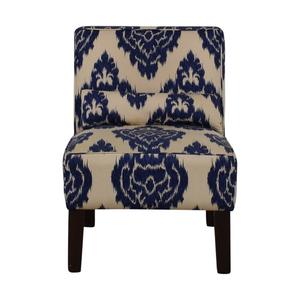 shop Skyline Furniture Diamond Blue Armless Accent Chair Skyline Furniture