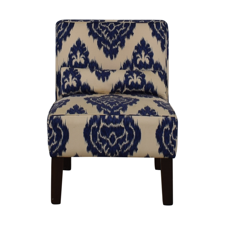 shop Skyline Furniture Diamond Blue Armless Accent Chair Skyline Furniture