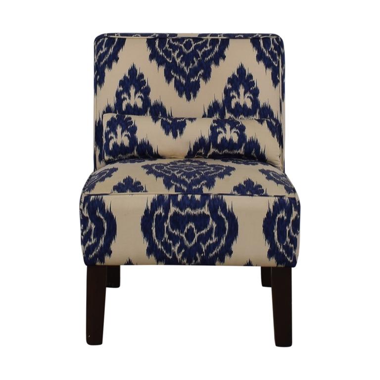 Skyline Furniture Diamond Blue Armless Accent Chair sale