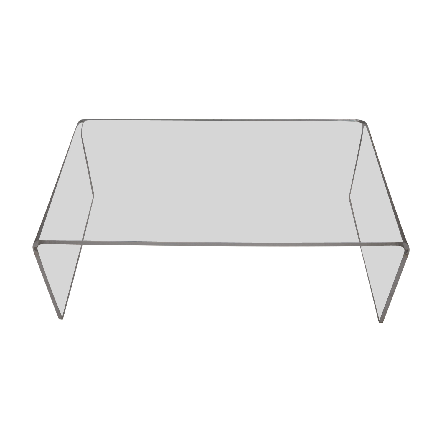 buy CB2 Peekaboo Acrylic Coffee Table CB2 Tables