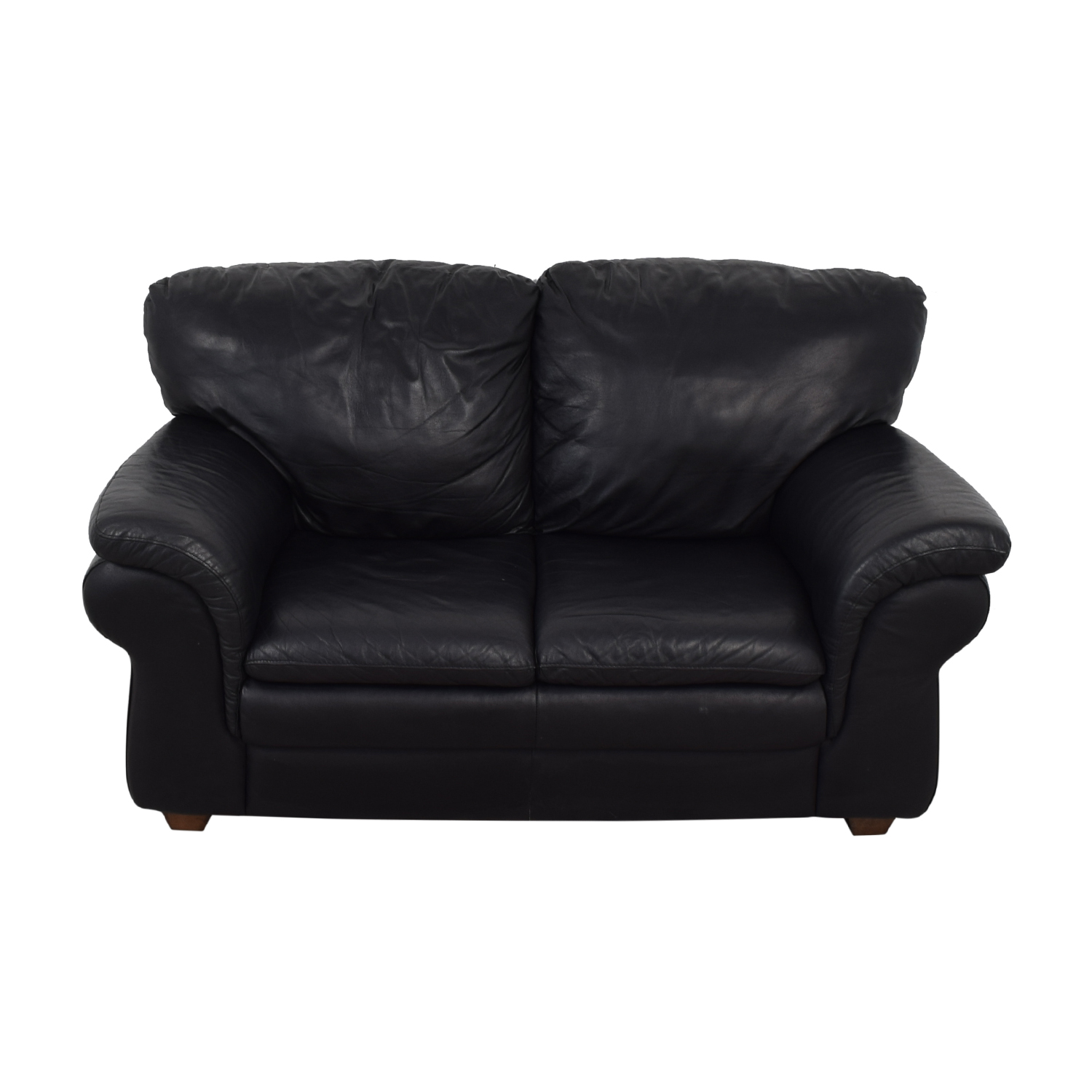 buy Bloomingdale's Black Two-Cushion Loveseat Bloomingdale's