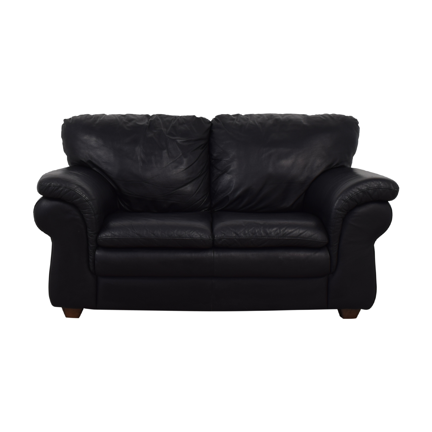 Bloomingdale's Bloomingdale's Black Two-Cushion Loveseat nyc