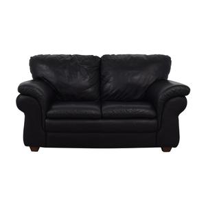 Bloomingdale's Bloomingdale's Black Two-Cushion Loveseat dimensions