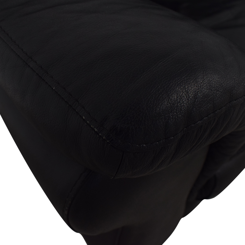 Bloomingdale's Black Two-Cushion Loveseat / Sofas