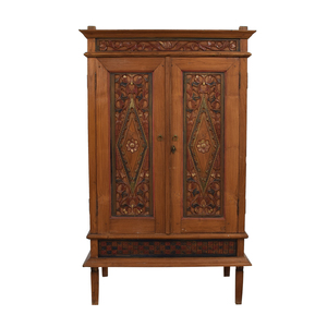 ABC Carpet & Home Indonesian Teak Media Armoire sale
