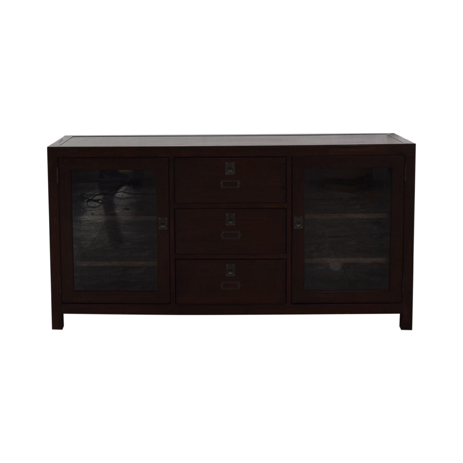 Pottery Barn Pottery Barn Rhys Three-Drawer Media Console on sale