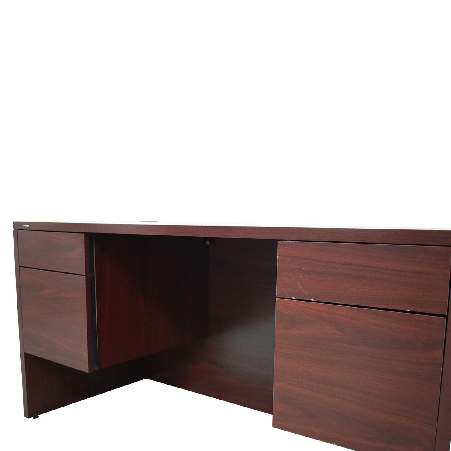 HON HON Four-Drawer Desk burgundy