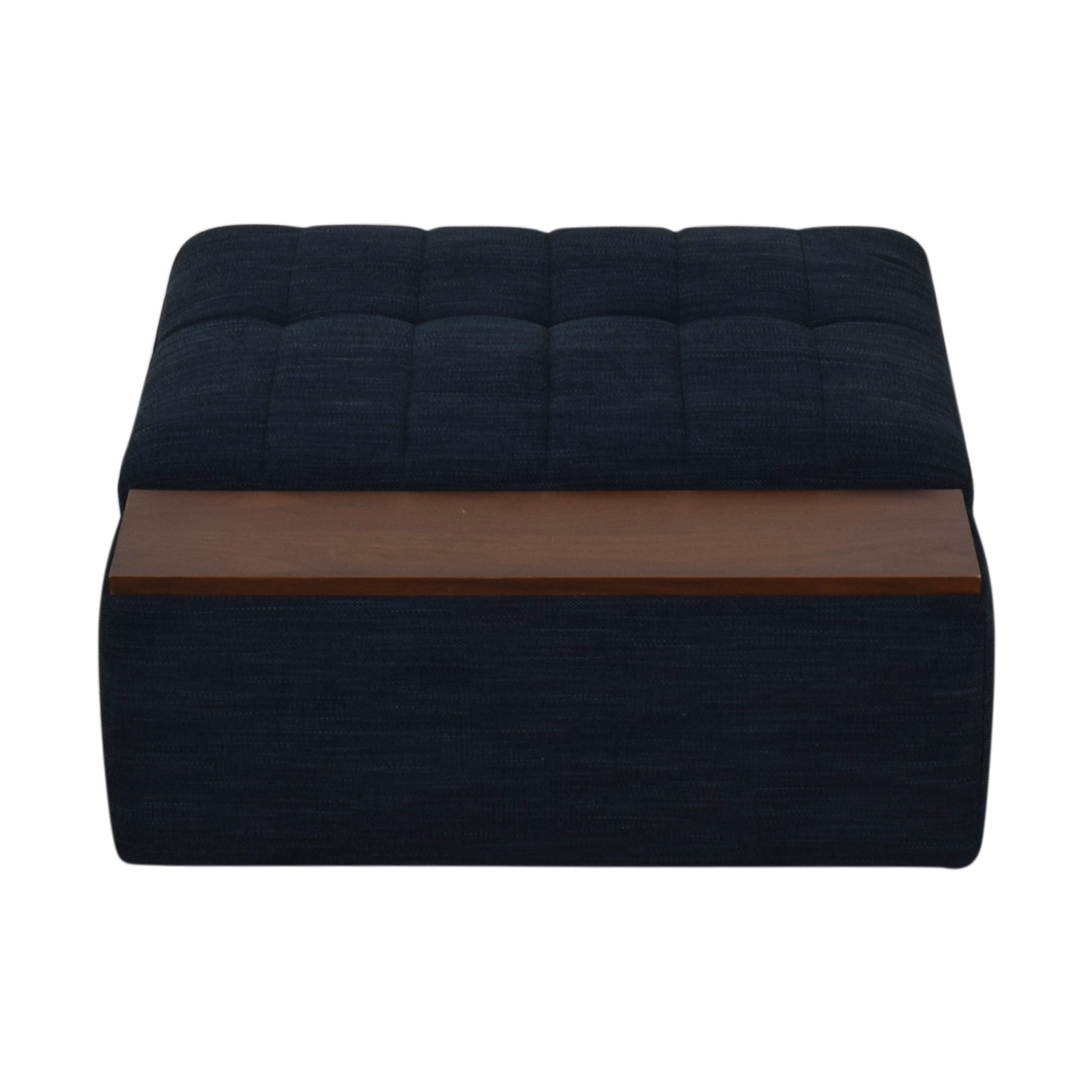 West Elm West Elm Plateau Blue Storage Ottoman With Table used