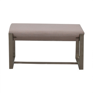 West Elm Grey Bench West Elm