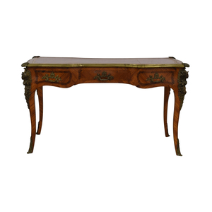 buy Napoleon Reproduction Inlaid Wood Leather Top Desk