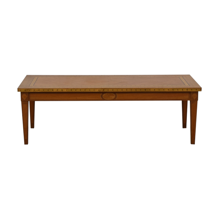 Inlaid Wood Coffee Table on sale