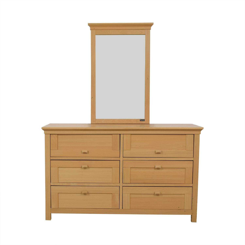 Romina Romina Six-Drawer Wood Dresser with Mirror nyc