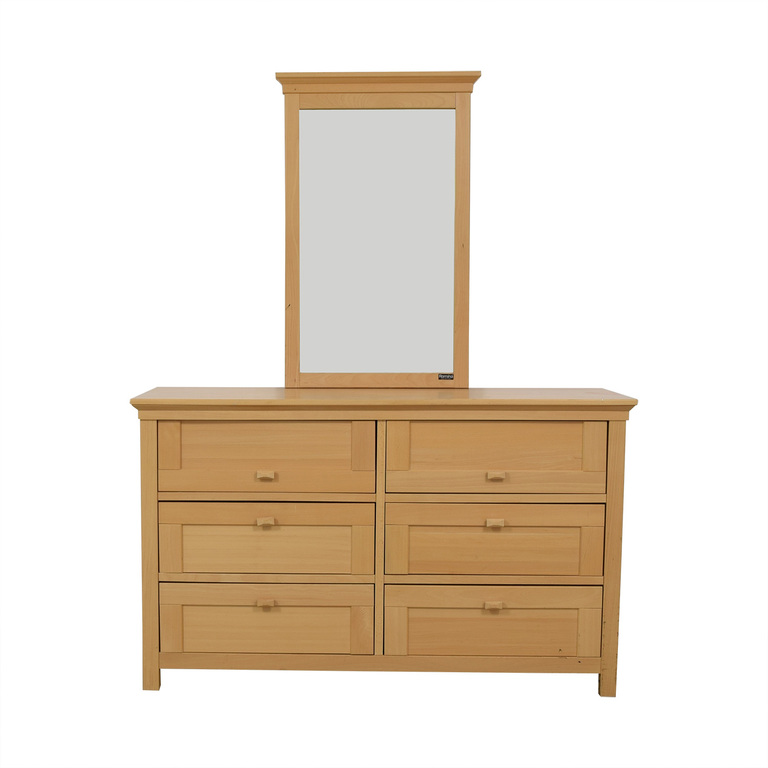 shop Romina Six-Drawer Wood Dresser with Mirror Romina