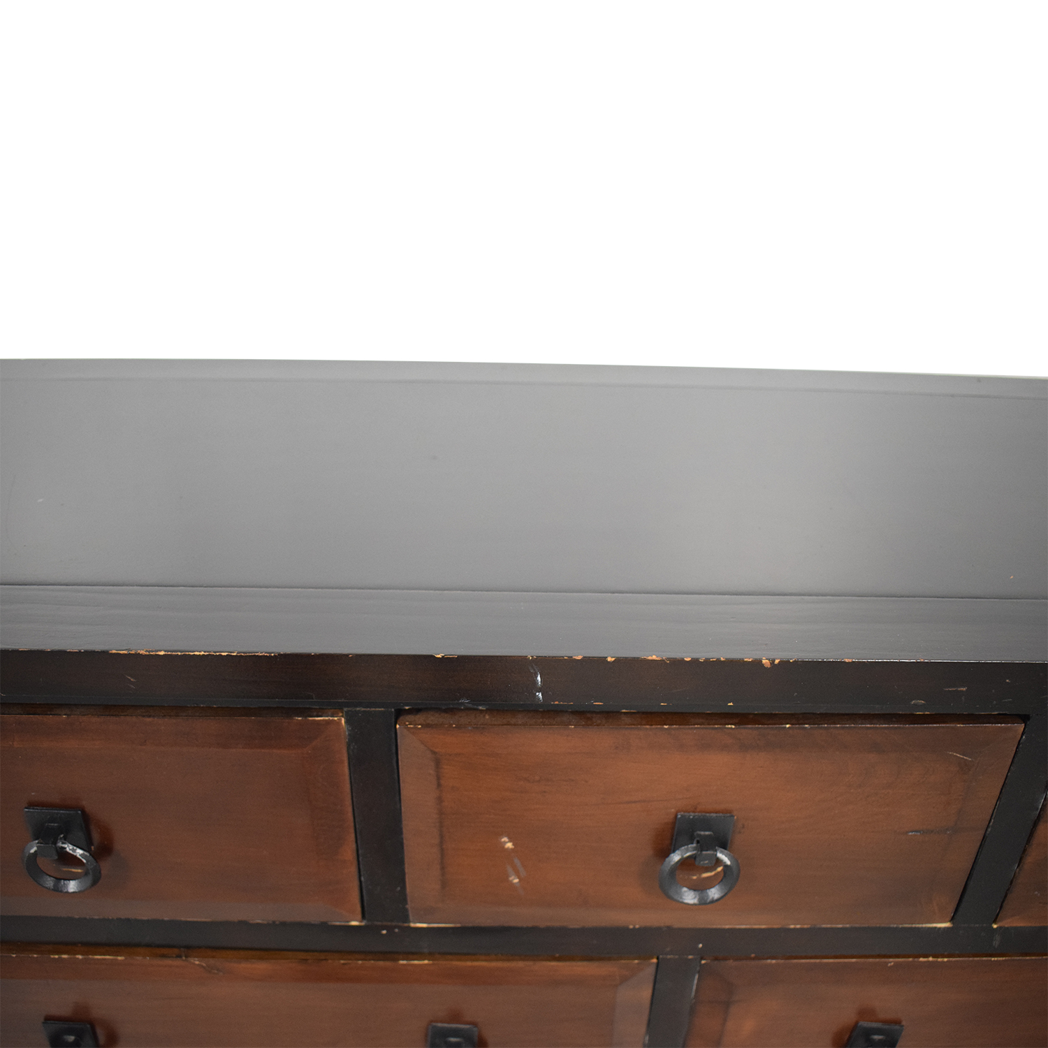 Wood Five-Drawer Console Table / Tables