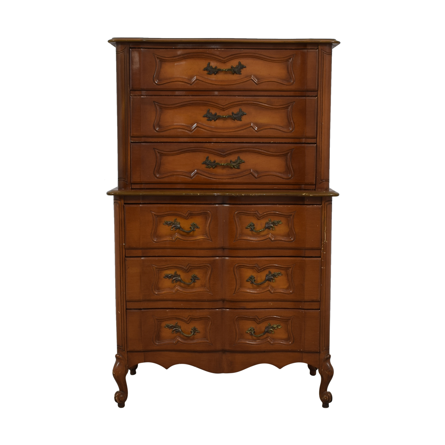 Vanleigh Six-Drawer Tall Dresser brown
