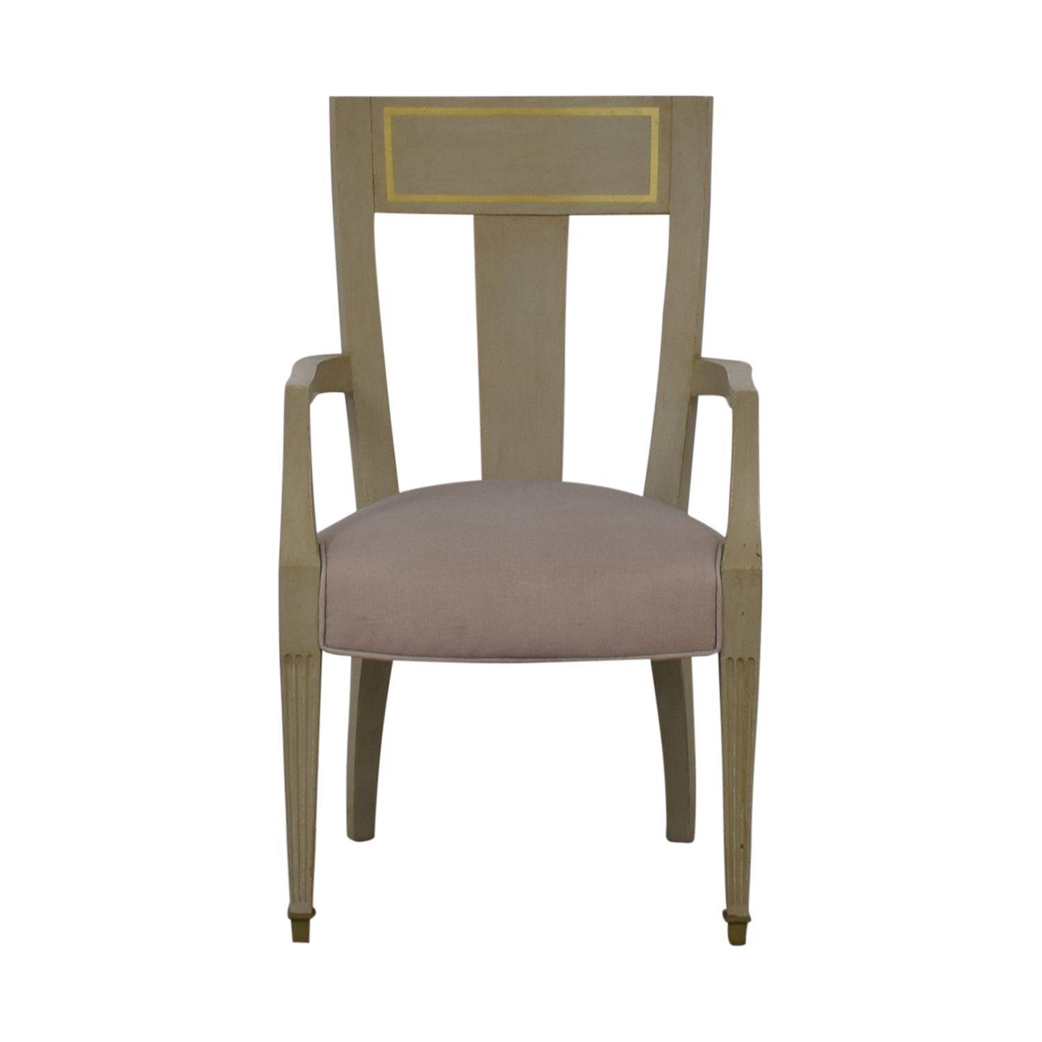 Gray and Gold Arm Accent Chair for sale