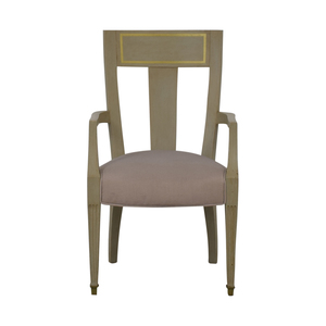 Gray and Gold Arm Accent Chair used