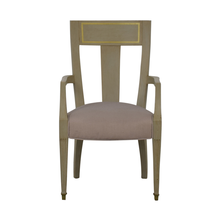 Gray and Gold Arm Accent Chair dimensions
