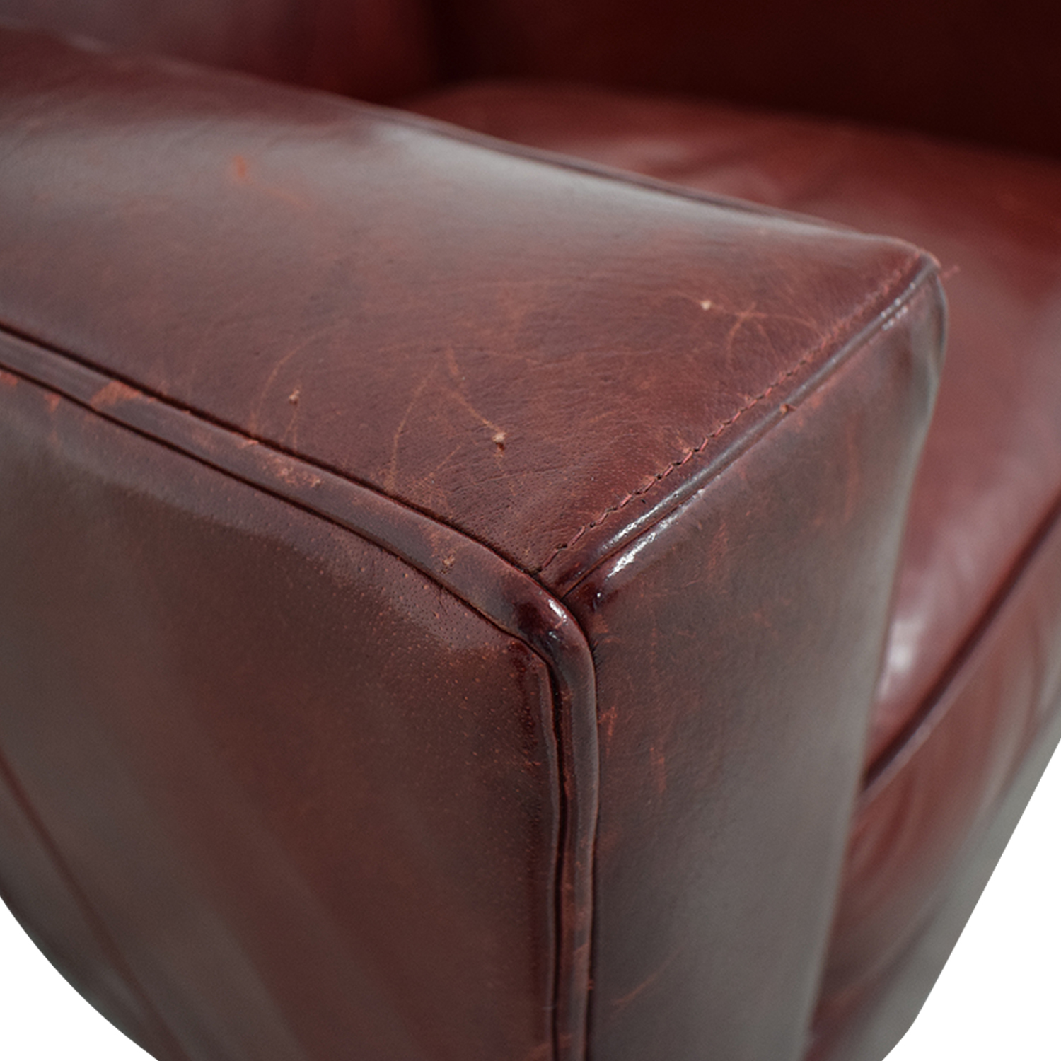 Crate & Barrel Crate & Barrel Swivel Red Accent Chair Accent Chairs