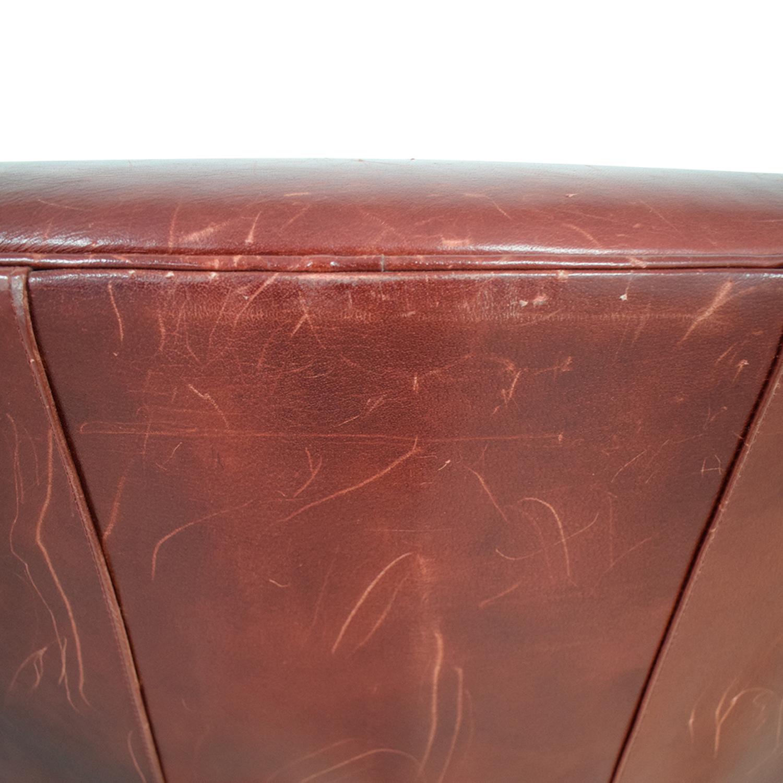 Crate & Barrel Crate & Barrel Swivel Red Accent Chair