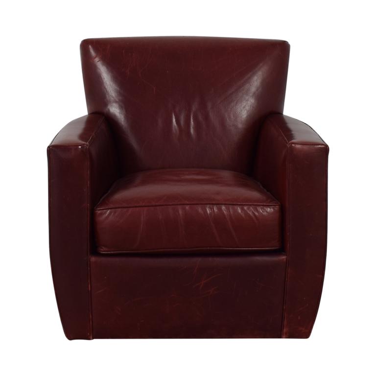 shop Crate & Barrel Swivel Red Accent Chair Crate & Barrel